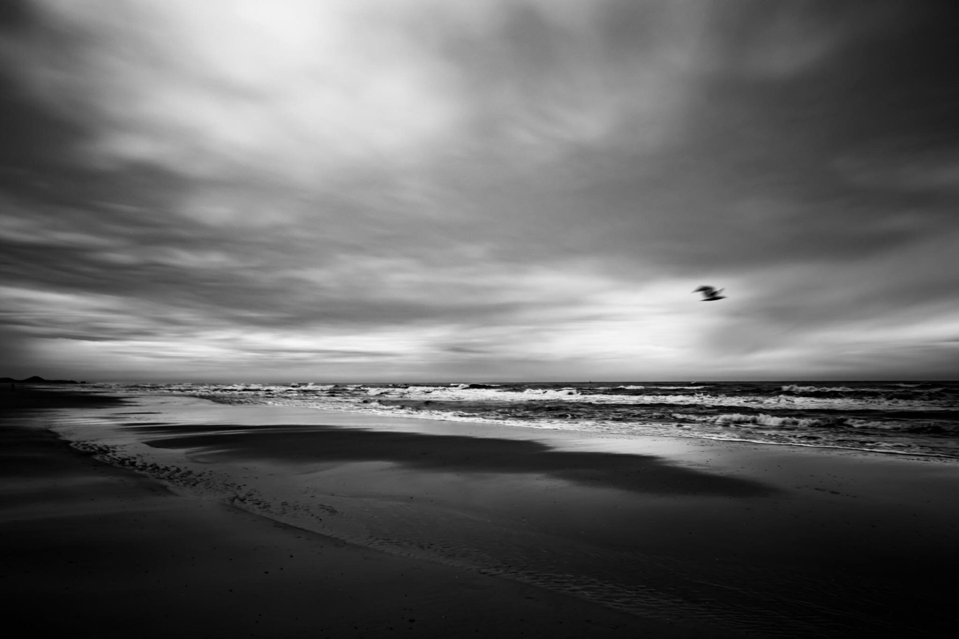 The Beach in B&W